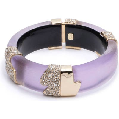 Alexis Bittar Crystal Encrusted Lucite Hinge Bracelet
