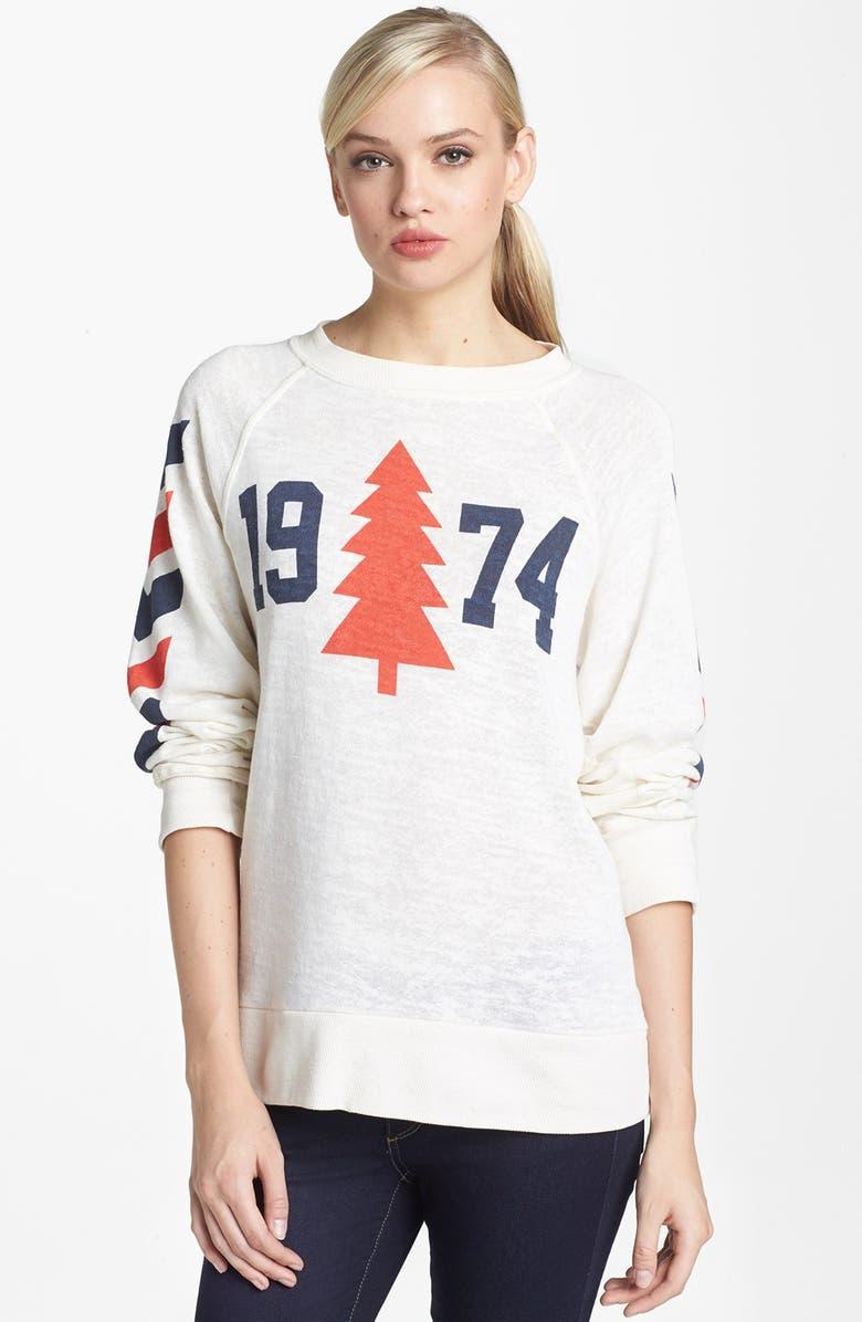 WILDFOX '1974 Nantucket' Sweatshirt, Main, color, 110