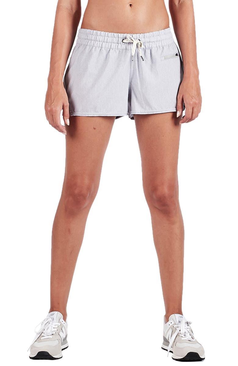 VUORI Clementine Shorts, Main, color, LIGHT HEATHER GREY