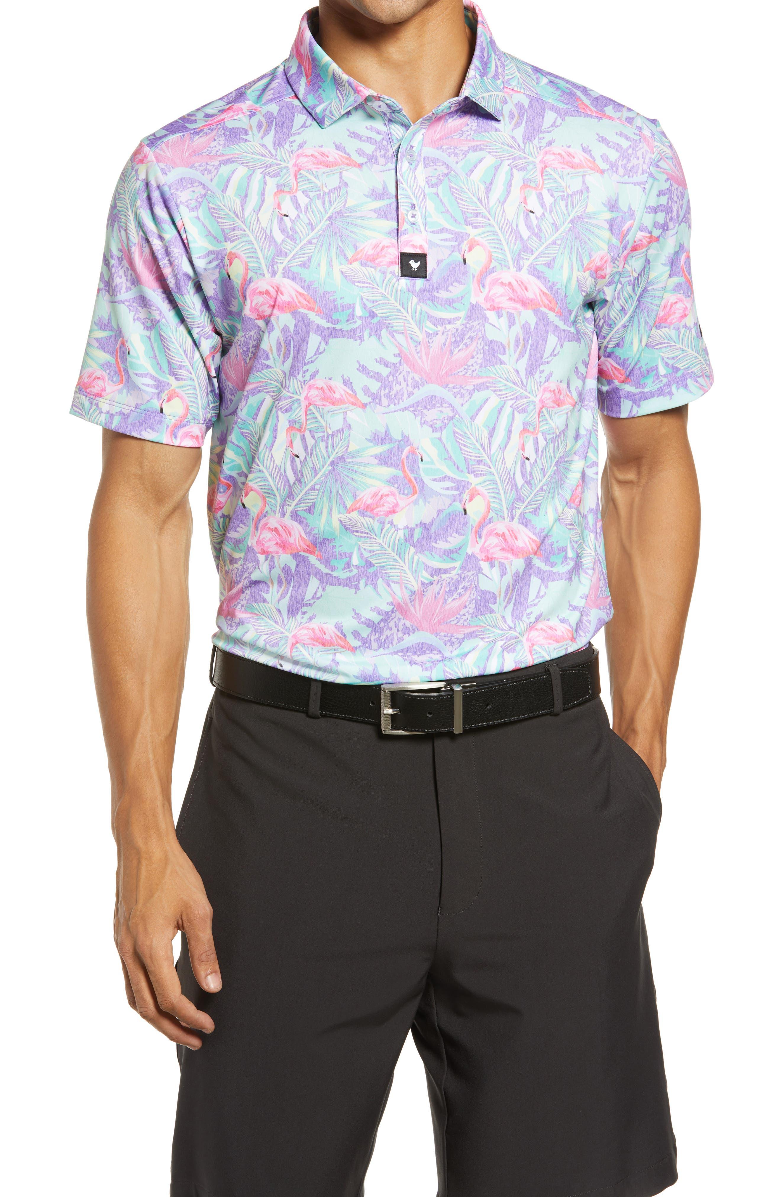 Mingos Slim Fit Tropical Golf Polo