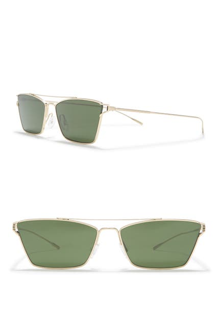 Image of Oliver Peoples Evey 59mm Brow Bar Rectangle Sunglasses