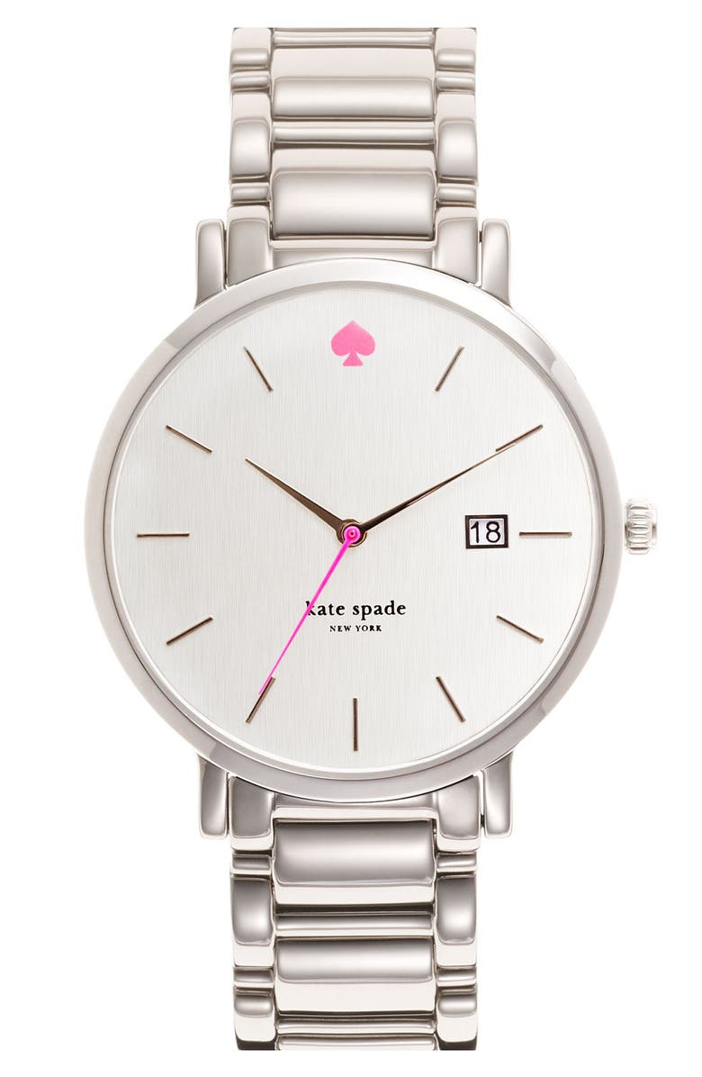 KATE SPADE NEW YORK 'gramercy grand' bracelet watch, 38mm, Main, color, 040