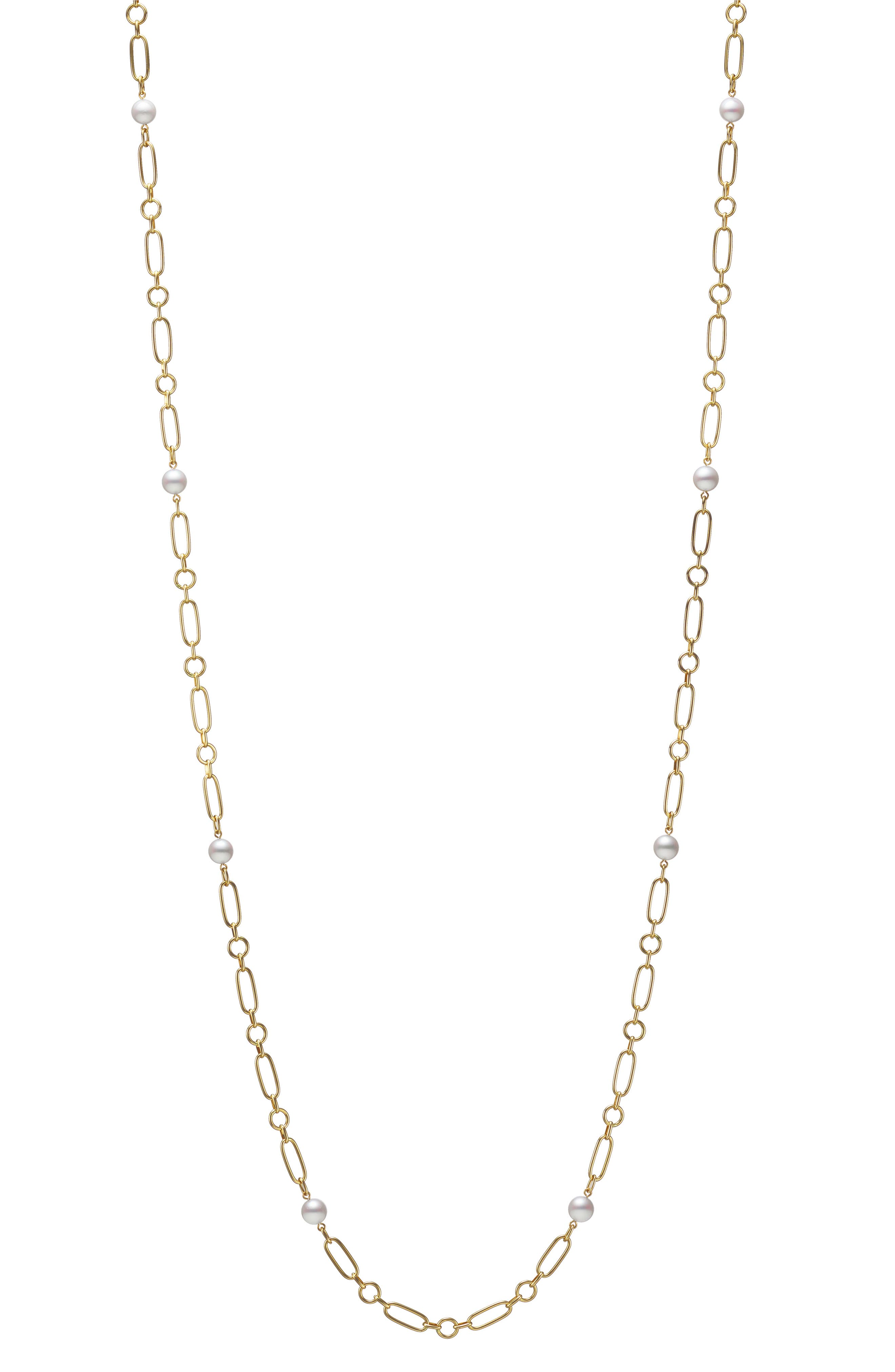 Cultured Pearl Station Necklace