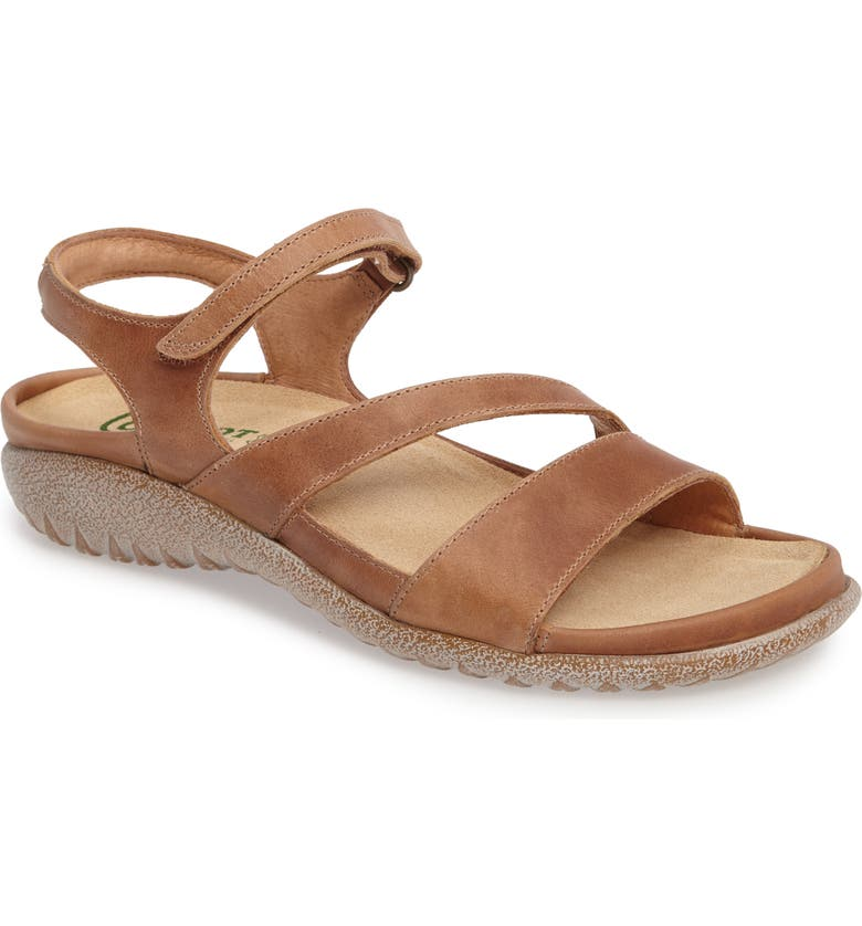NAOT 'Etera' Sandal, Main, color, BROWN LEATHER