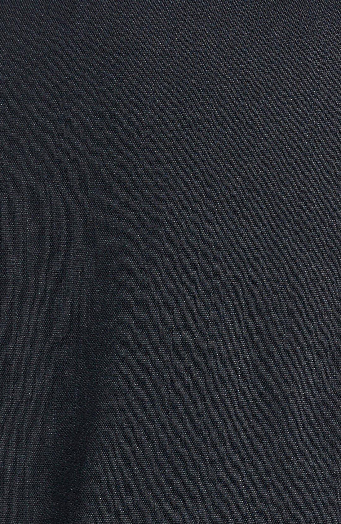 ,                             Seamed Back Linen Blend Blazer,                             Alternate thumbnail 2, color,                             001