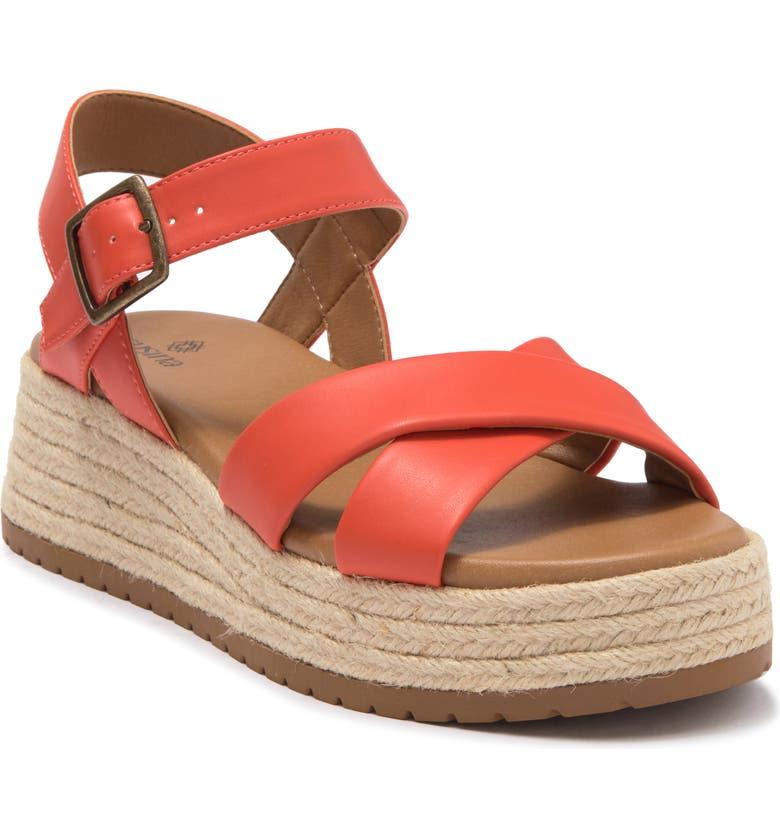 SUSINA Marli Strappy Espadrille Flatform Sandal, Main, color, ORANGE TANGERINE