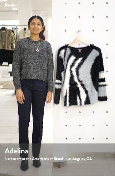Abstract Stripe Eyelash Sweater, sales video thumbnail