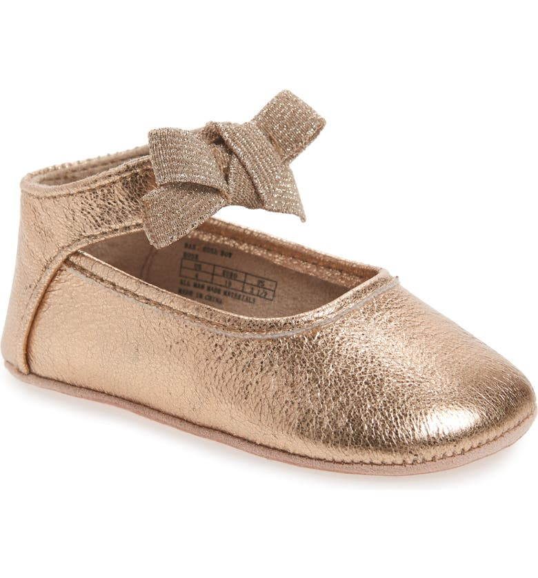 KENNETH COLE NEW YORK Rose Bow Metallic Ballet Flat, Main, color, 658