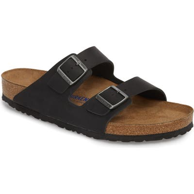 Birkenstock Arizona Soft Slide Sandal,7.5 - Black