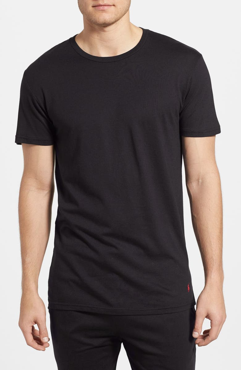 POLO RALPH LAUREN Crewneck T-Shirt, Main, color, POLO BLACK