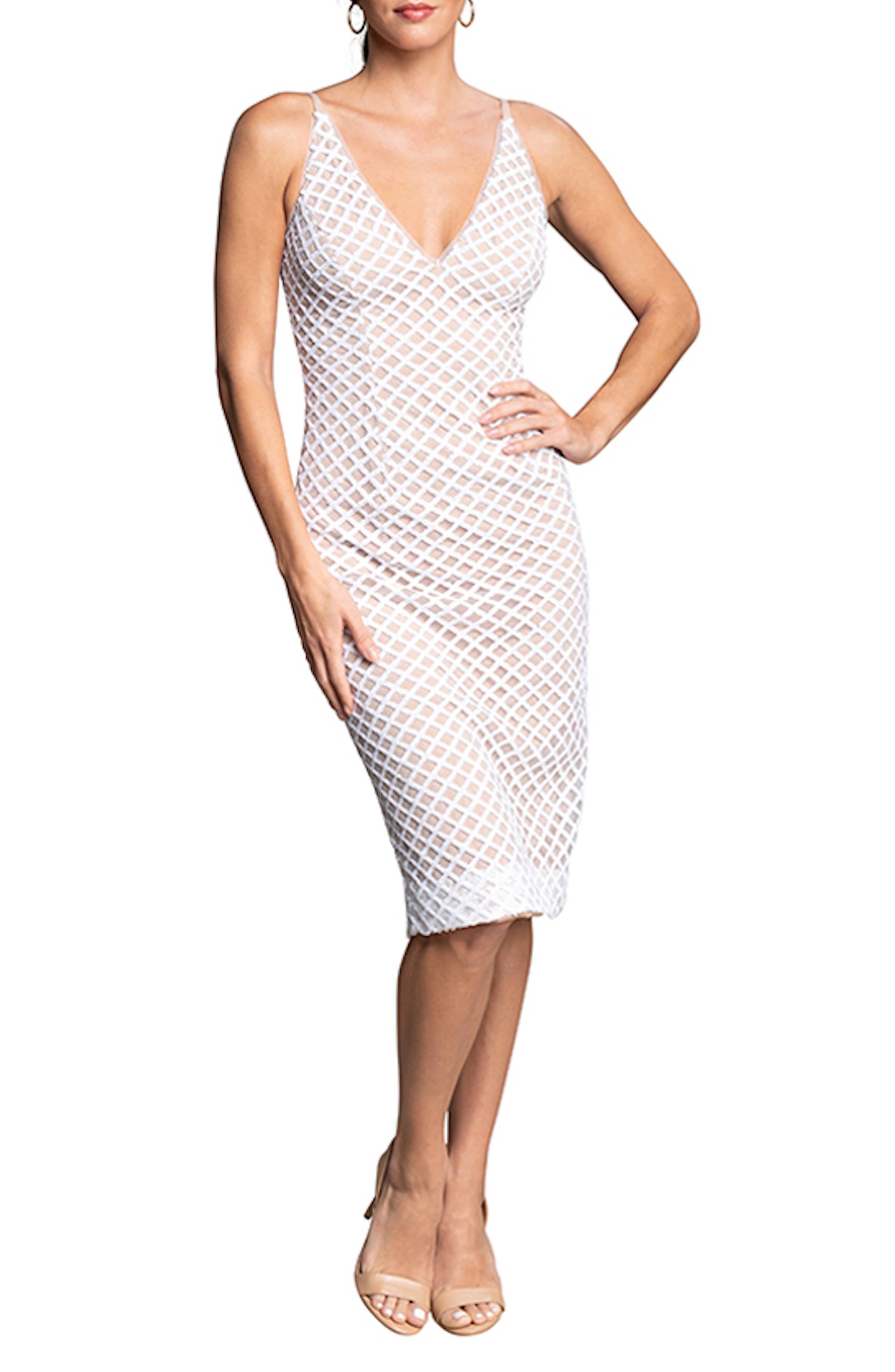 Luna Fishnet Cocktail Dress
