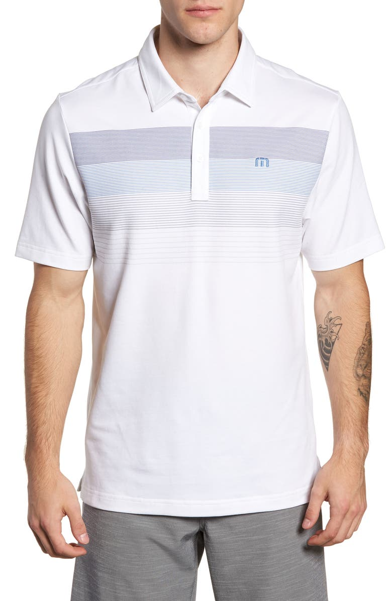 TRAVISMATHEW Regular Fit Polo, Main, color, WHITE
