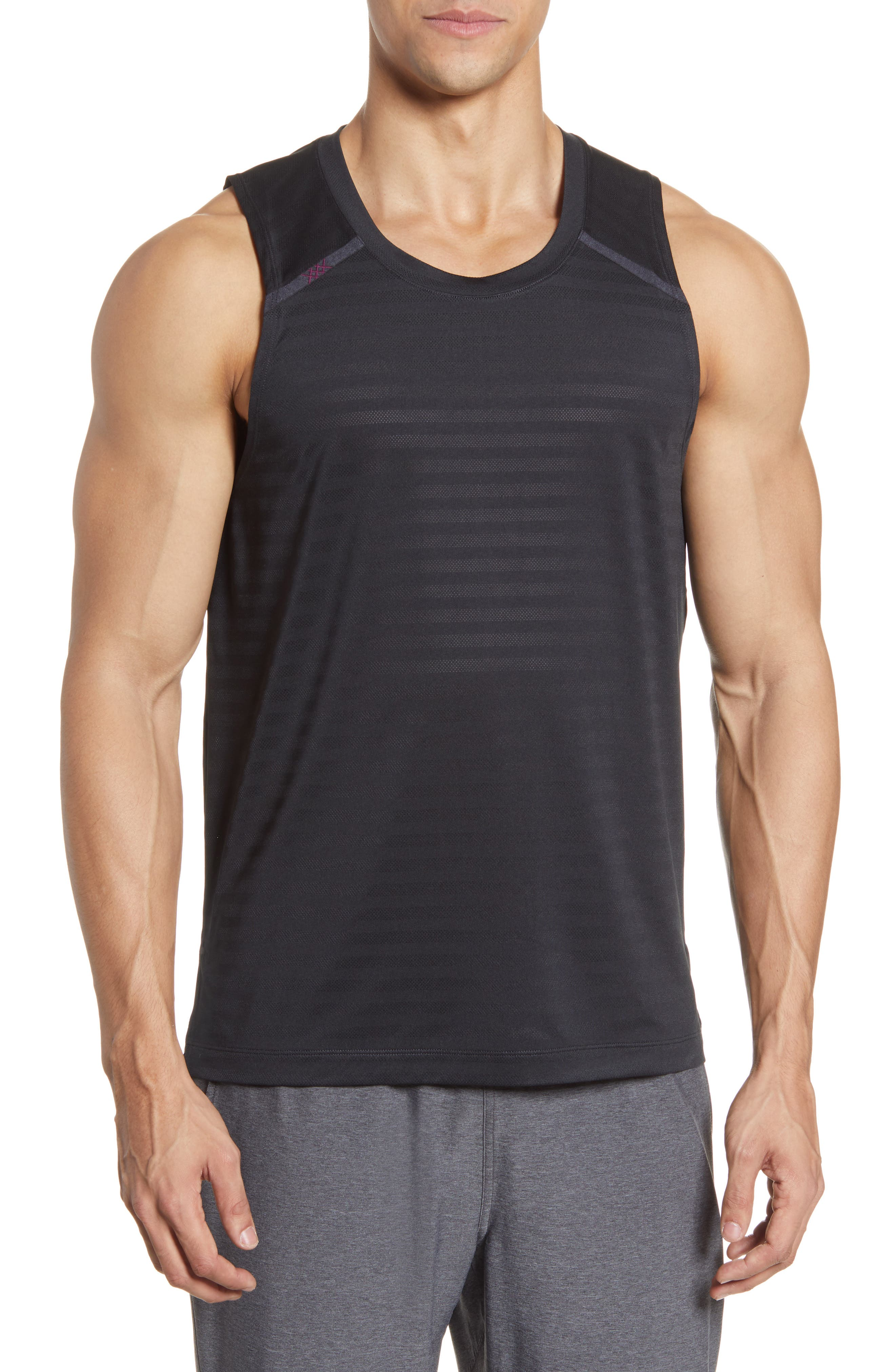Stretchy, moisture-wicking mesh keeps up at any intensity in an all-activity tank that dries quickly and resists odors to keep you fresh and comfortable. Style Name: Rhone Swift Performance Tank. Style Number: 6036438. Available in stores.