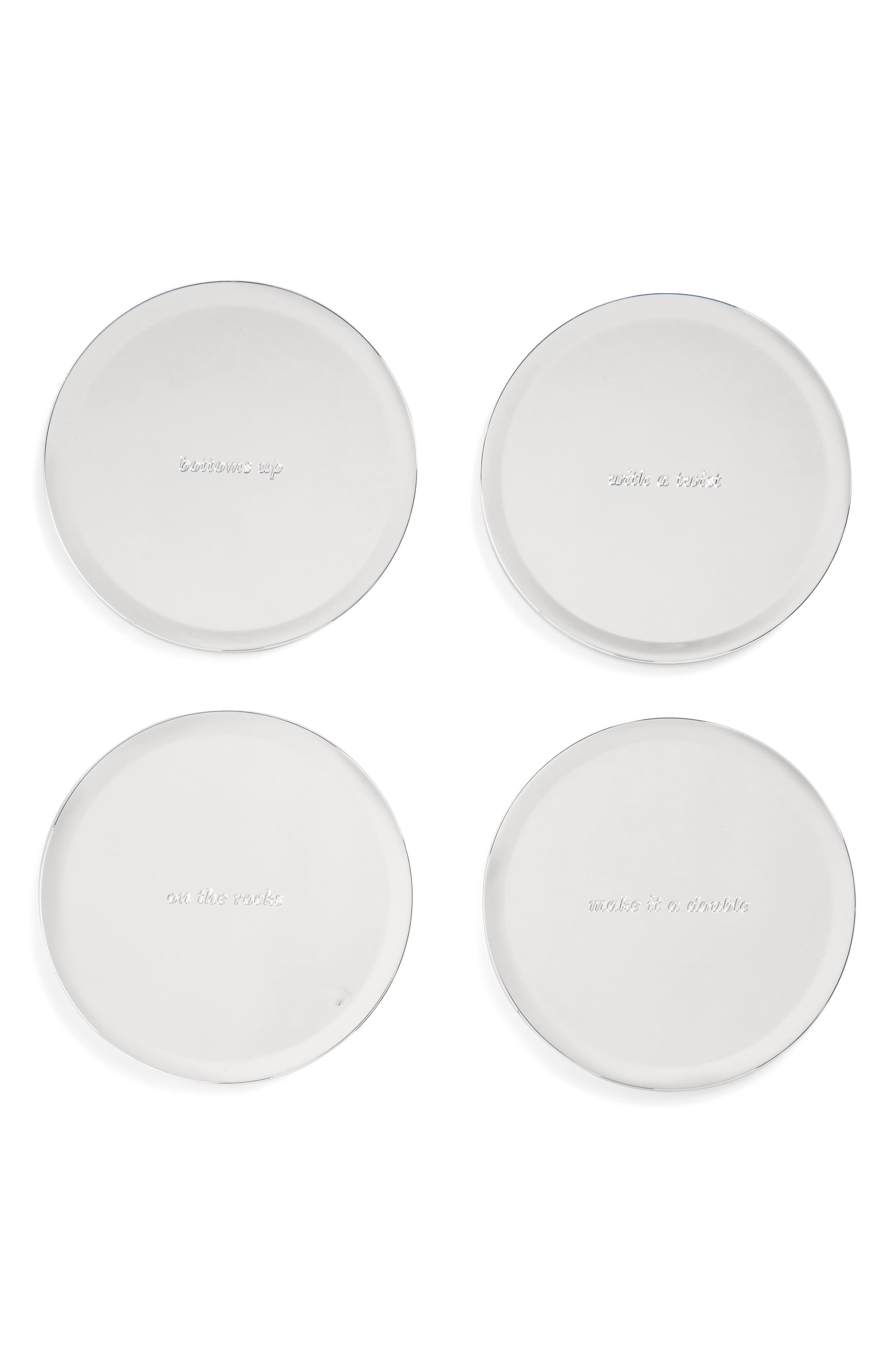set of 4 silver street coasters, Main, color, 046