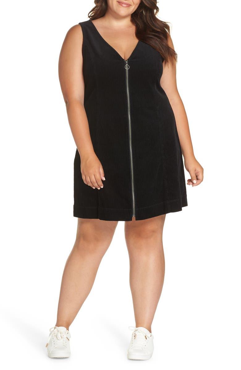 BP. Corduroy Pinafore Dress (Plus Size) | Nordstrom