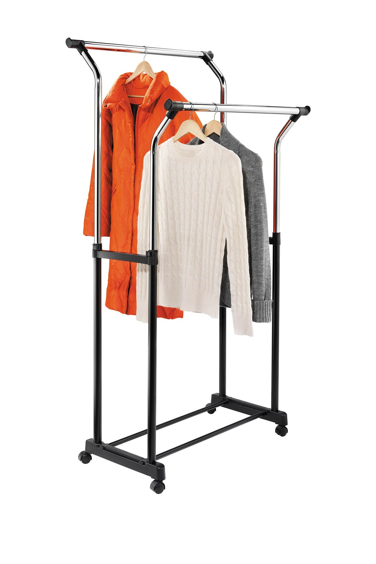 Image of Honey-Can-Do Adjustable Height Flared Garment Rack