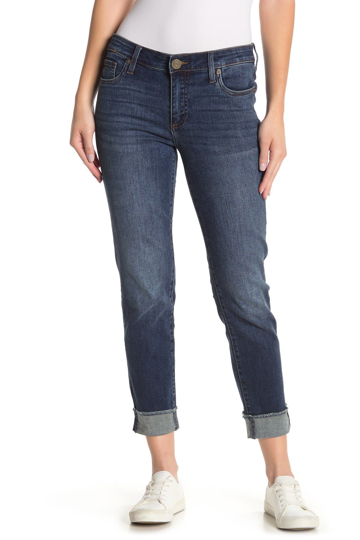 Image of KUT from the Kloth Asher Straight Leg Ankle Jeans