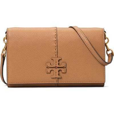 Tory Burch Mcgraw Leather Crossbody Wallet - Brown