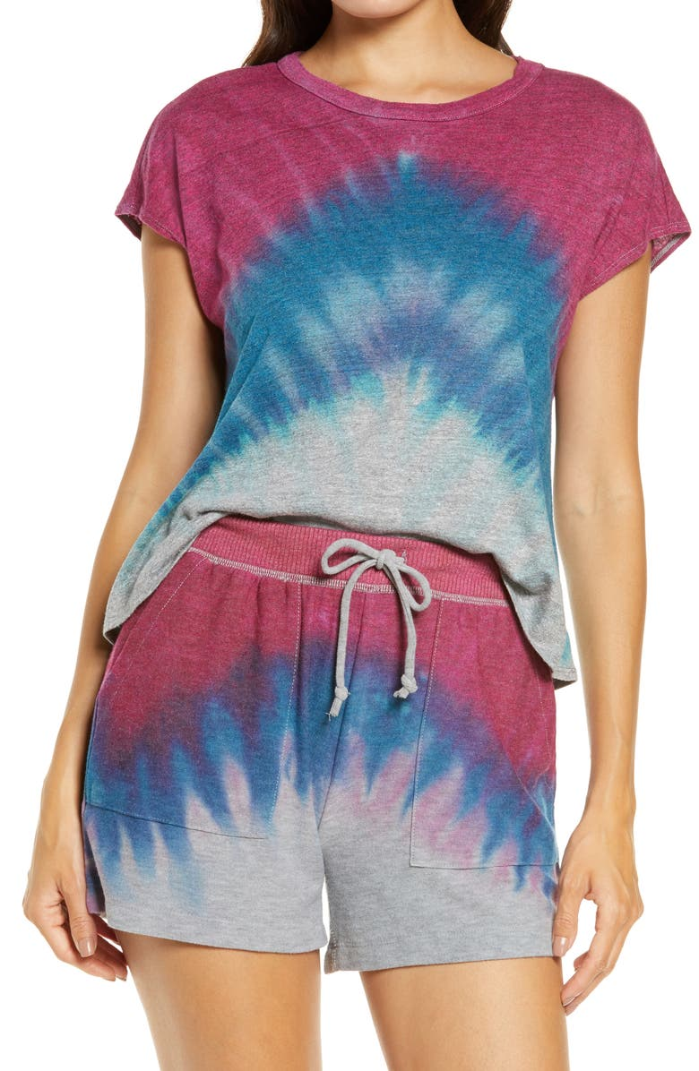 CHASER Tie Dye T-Shirt, Main, color, SUNSET DYE