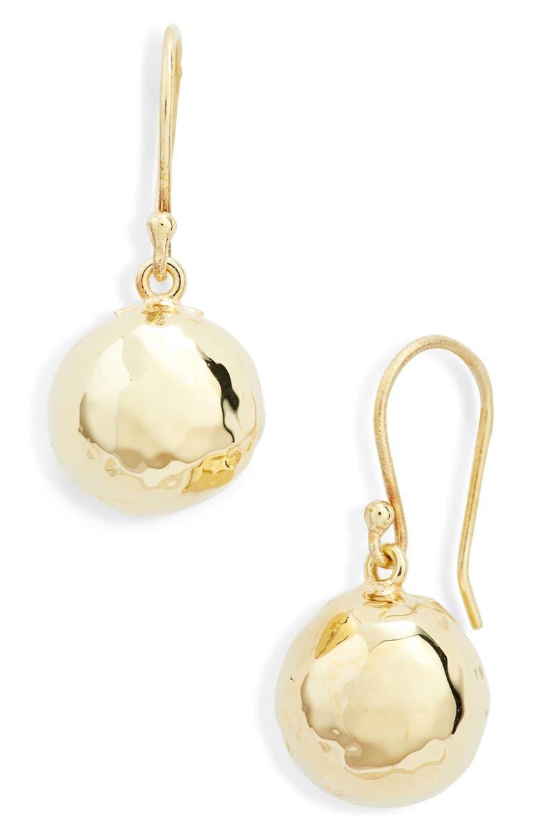 IPPOLITA Classico 18K Gold Half Ball Drop Earrings, Main, color, YELLOW GOLD