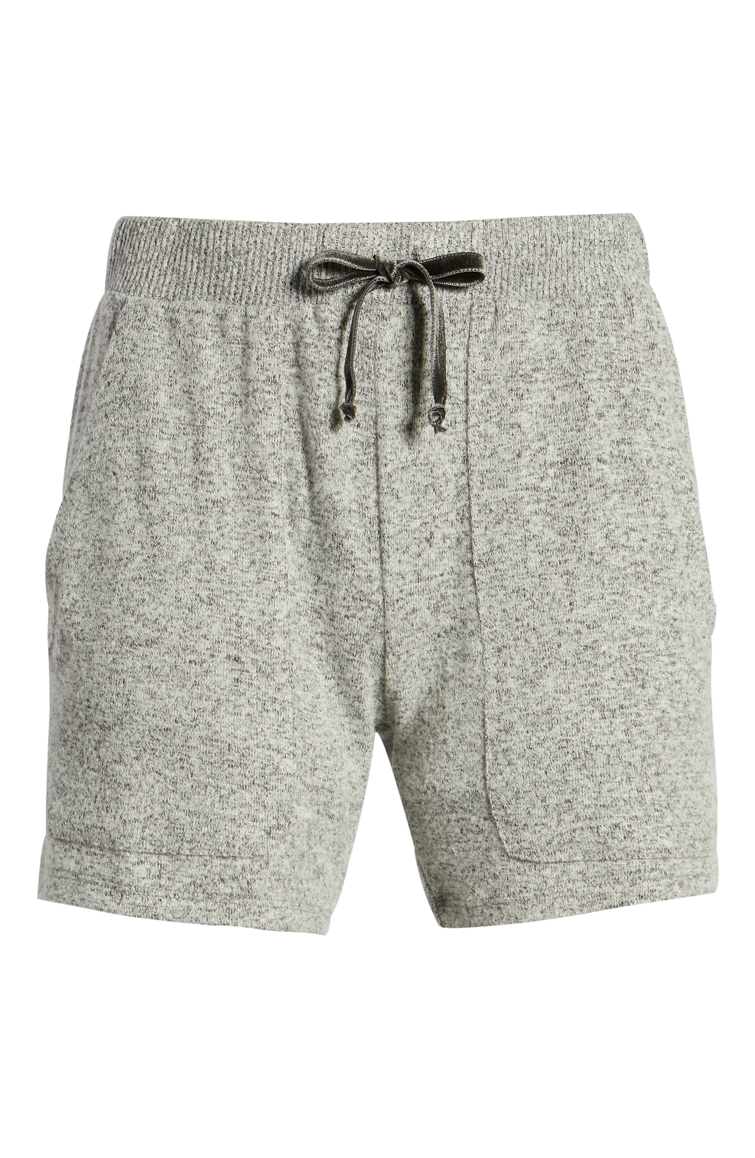 ,                             Robin Drawstring Waist Shorts,                             Alternate thumbnail 7, color,                             MELANGE GREY