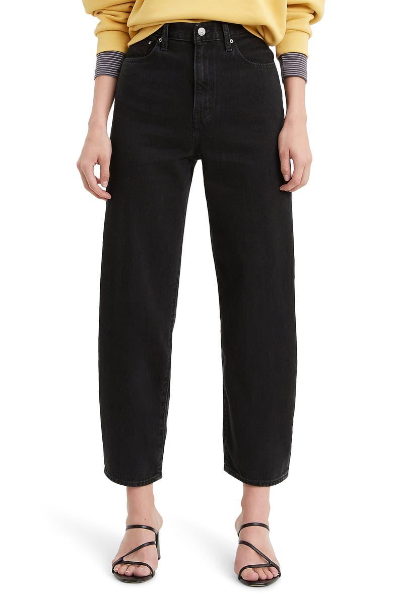 LEVI'S<SUP>®</SUP> Balloon Leg High Waist Jeans, Main, color, BLACK BOOK BALLOON