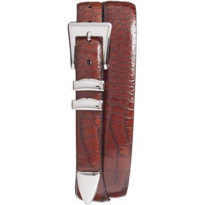 Torino Alligator Embossed Leather Belt