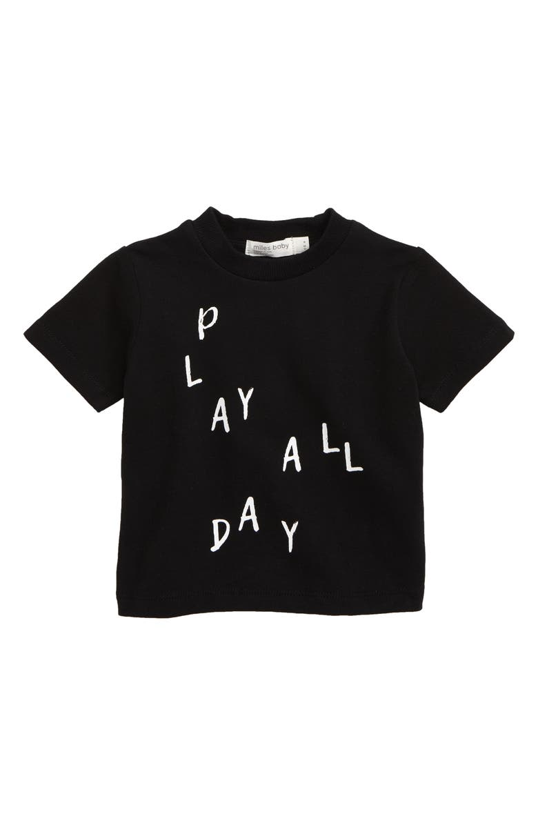 MILES BABY Graphic T-Shirt, Main, color, BLACK