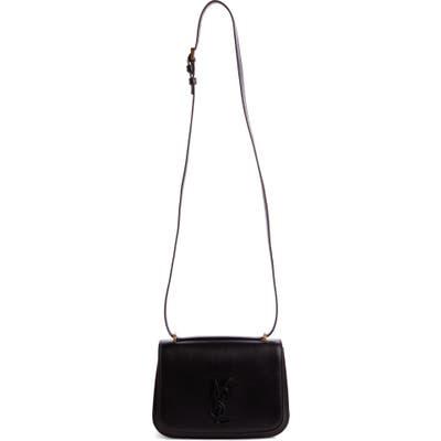 Saint Laurent Spontini Ysl Monogram Leather Shoulder Bag - Black