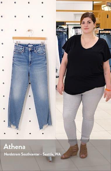 Good Curve High Waist Fray Hem Straight Leg Jeans, sales video thumbnail