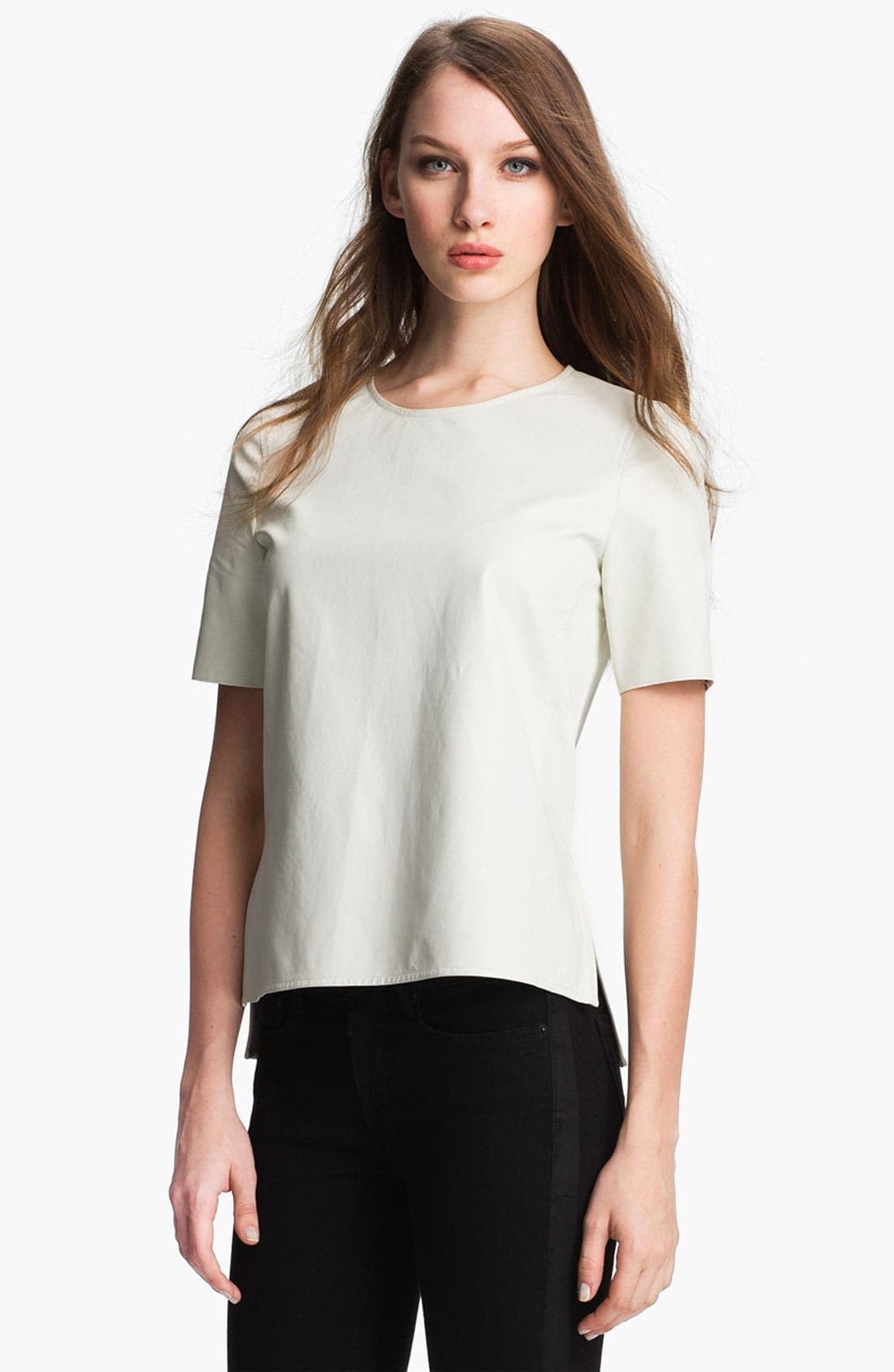 ,                             Leather Tee,                             Main thumbnail 6, color,                             100
