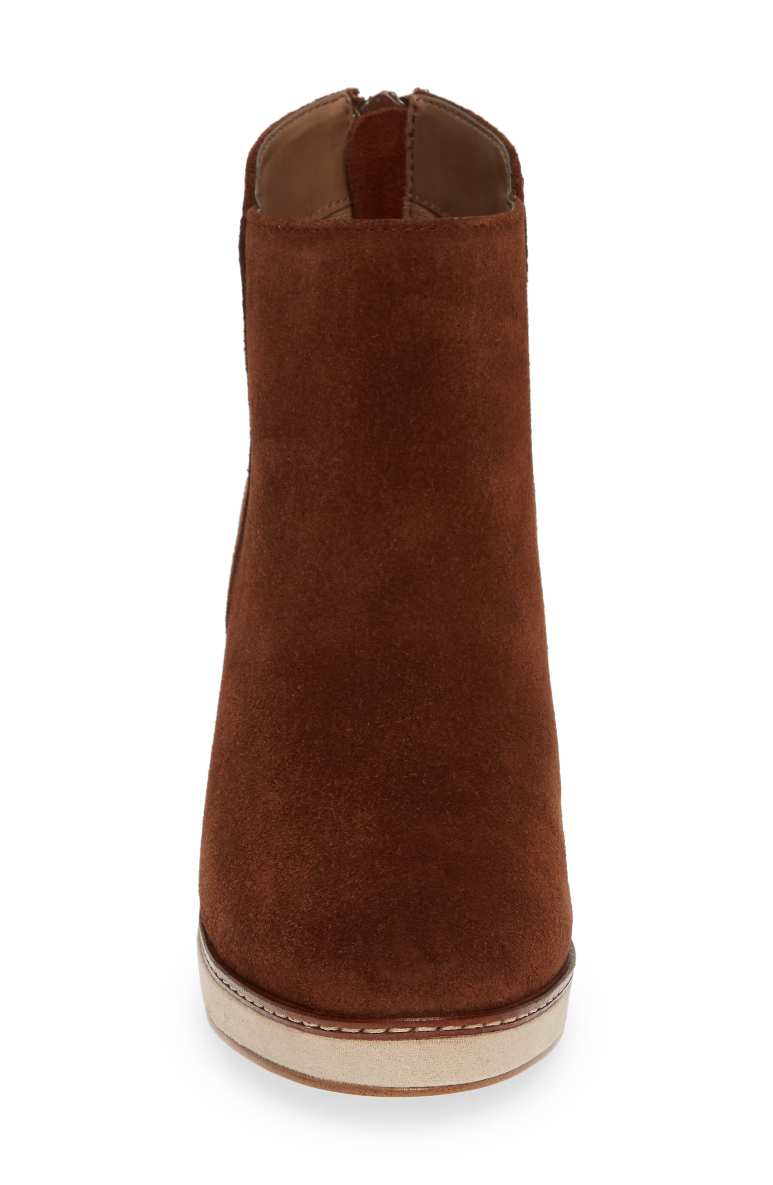 ,                             Higgins Wedge Bootie,                             Alternate thumbnail 4, color,                             WALNUT SUEDE