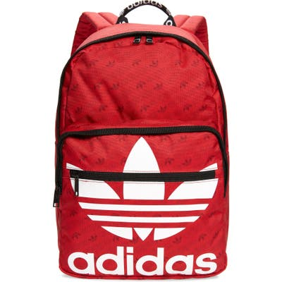 Adidas Originals Trefoil Pocket Medium Red Backpack - Red