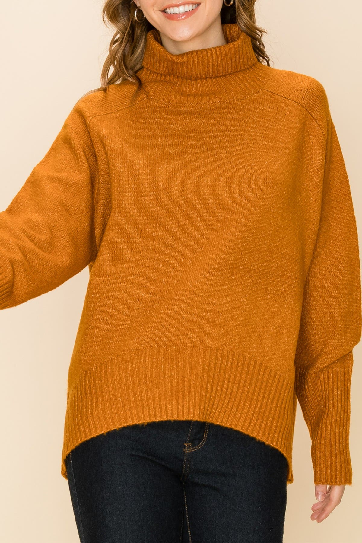 Image of Double Zero Loose Fit Turtle Neck Sweater