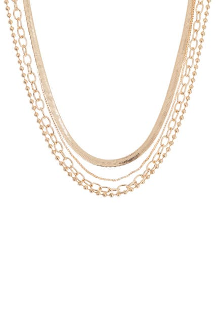 Image of Panacea Herringbone Link Mix Layered Necklace