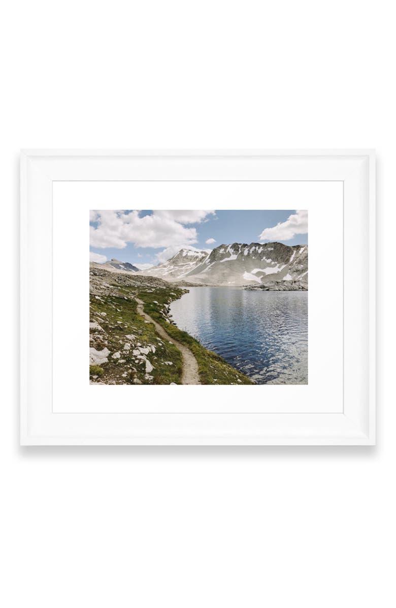 DENY DESIGNS High Sierra Lake Art Print, Main, color, WHITE FRAME- 8X10