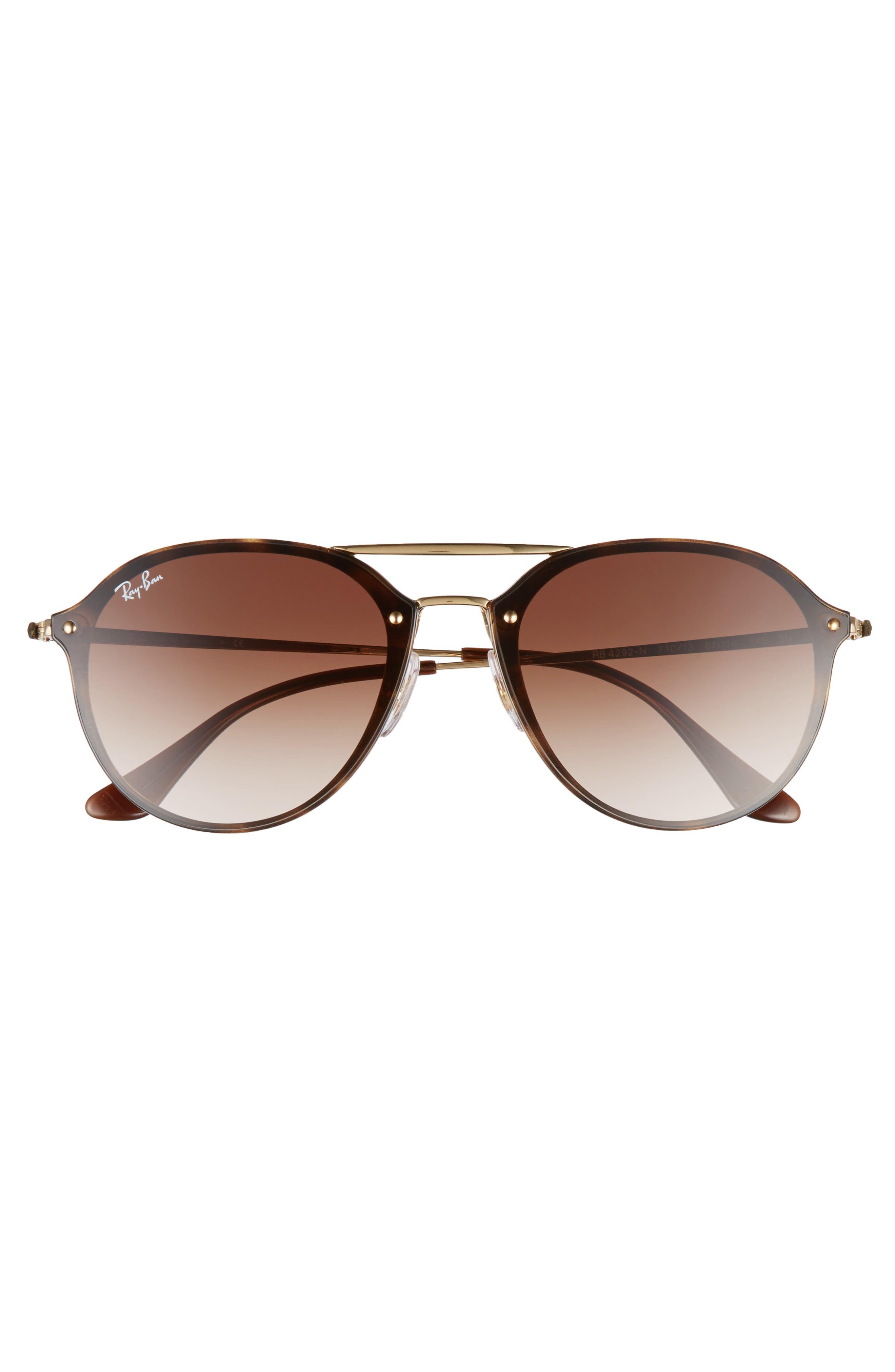 ,                             62mm Gradient Lens Aviator Sunglasses,                             Alternate thumbnail 3, color,                             HAVANA