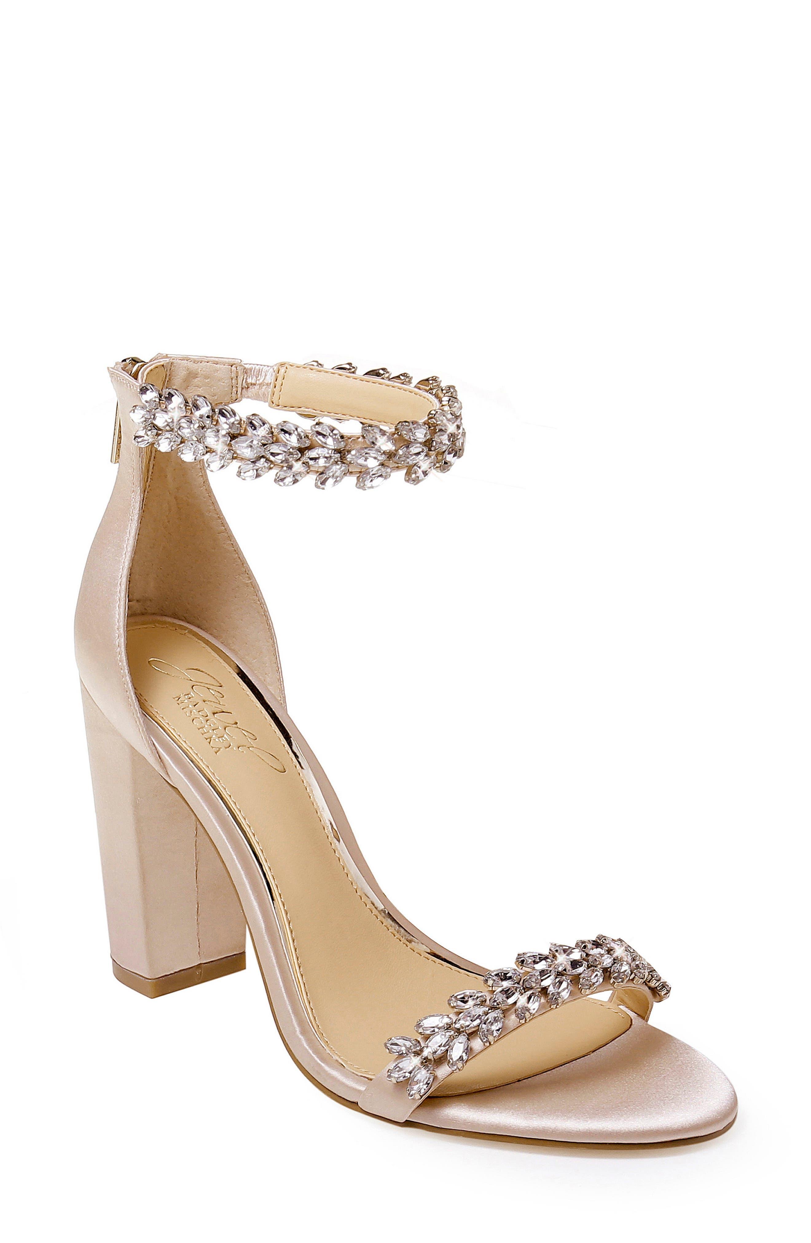 Women's Jewel By Badgley Mischka Mayra Embellished Ankle Strap Sandal