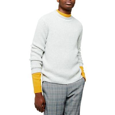 Topman Chunky Crewneck Sweater, Grey