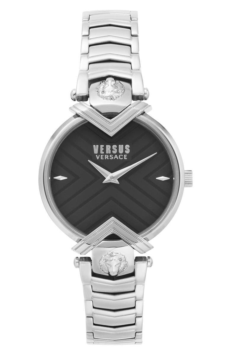 VERSACE VERSUS Versace Mabillon Bracelet Watch, 36mm, Main, color, SILVER/ BLACK/ SILVER