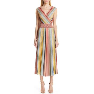 Missoni Reversible Metallic Stripe Sweater Dress, 8 IT - Coral