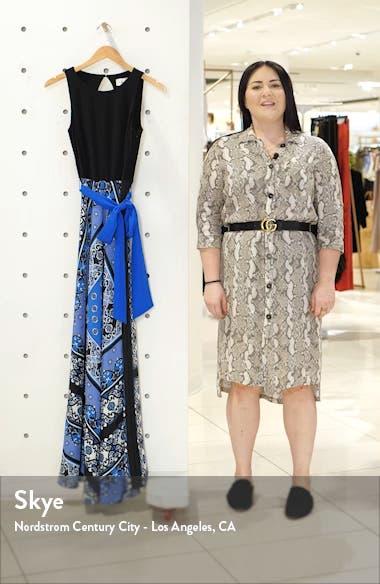 Scarf Print Sleeveless Maxi Dress, sales video thumbnail