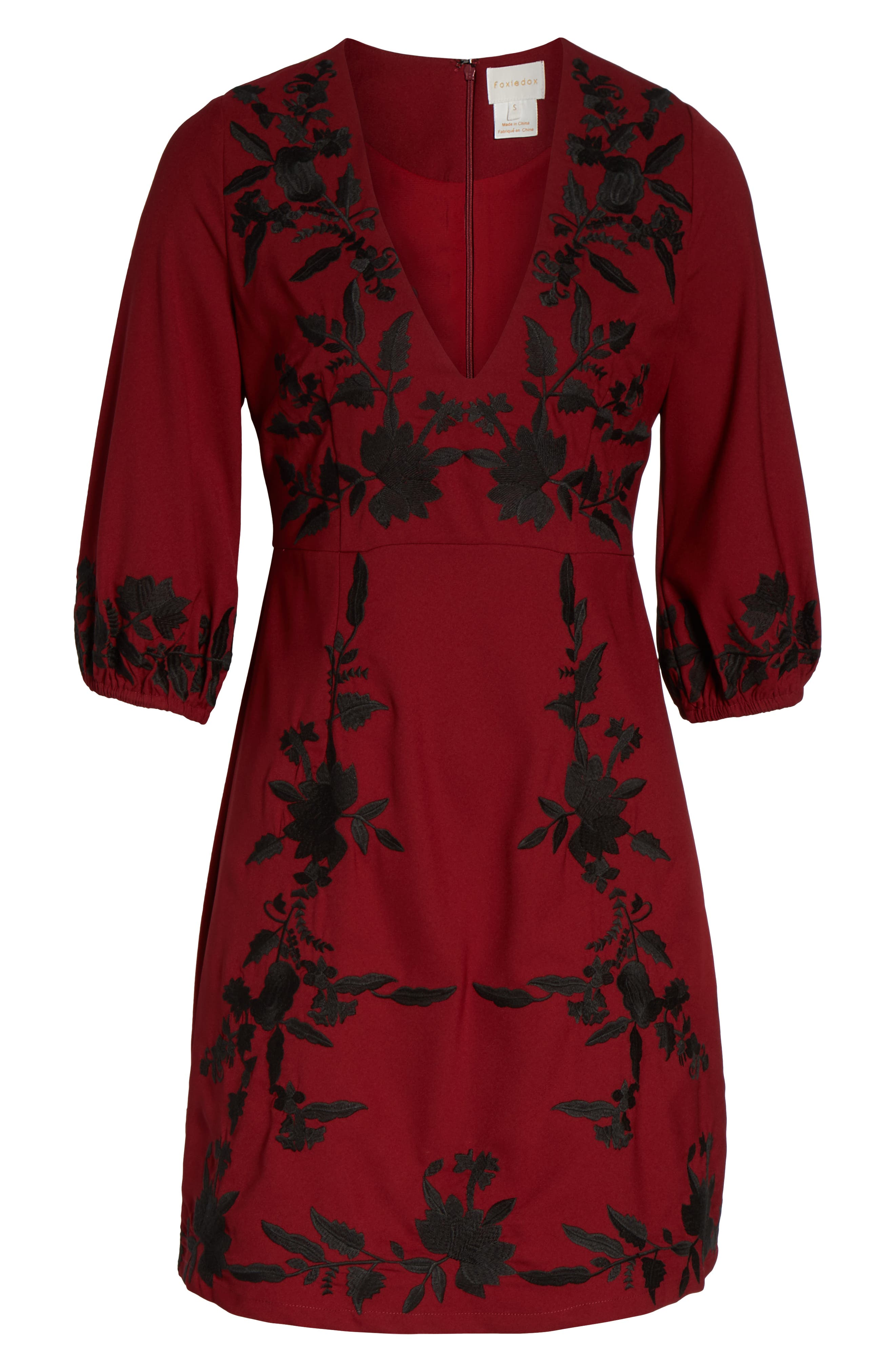 ,                             Melia Embroidered Cocktail Dress,                             Alternate thumbnail 13, color,                             930