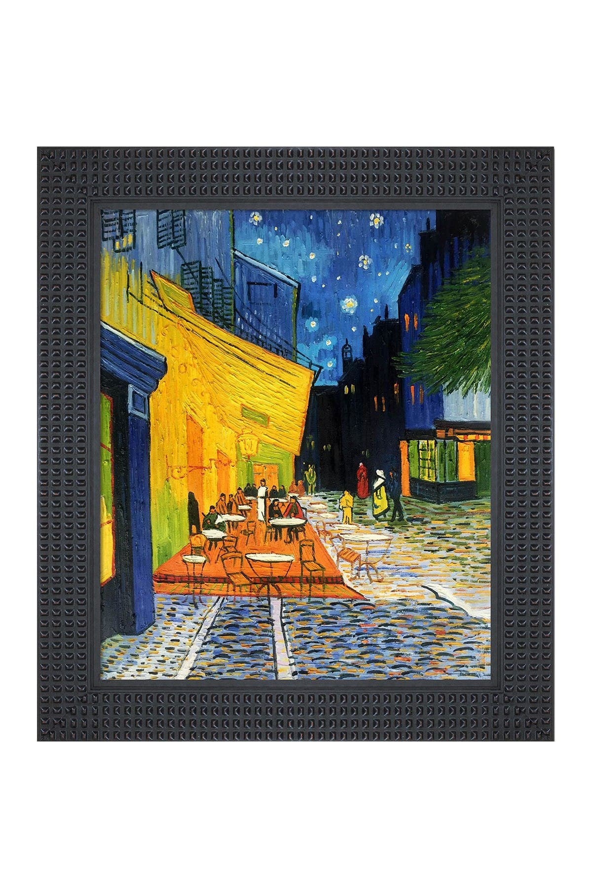 Overstock Art Cafe Terrace at Night with Java Bean Frame , 26.5\\\