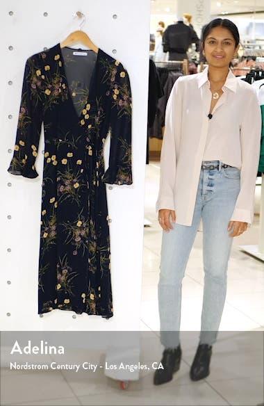 Mulberry Floral Print Wrap Dress, sales video thumbnail