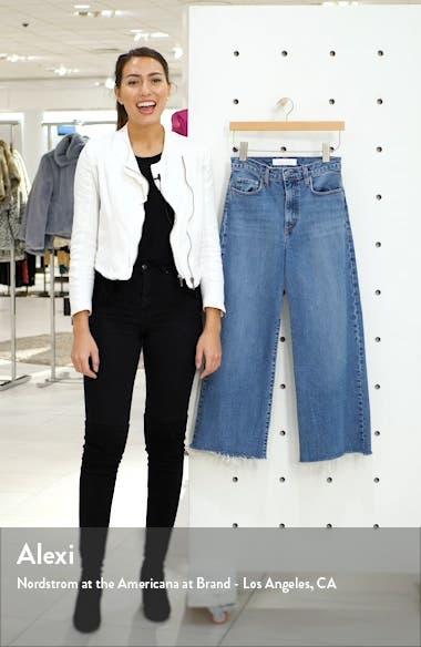 Milla High Waist Fray Hem Crop Wide Leg Jeans, sales video thumbnail