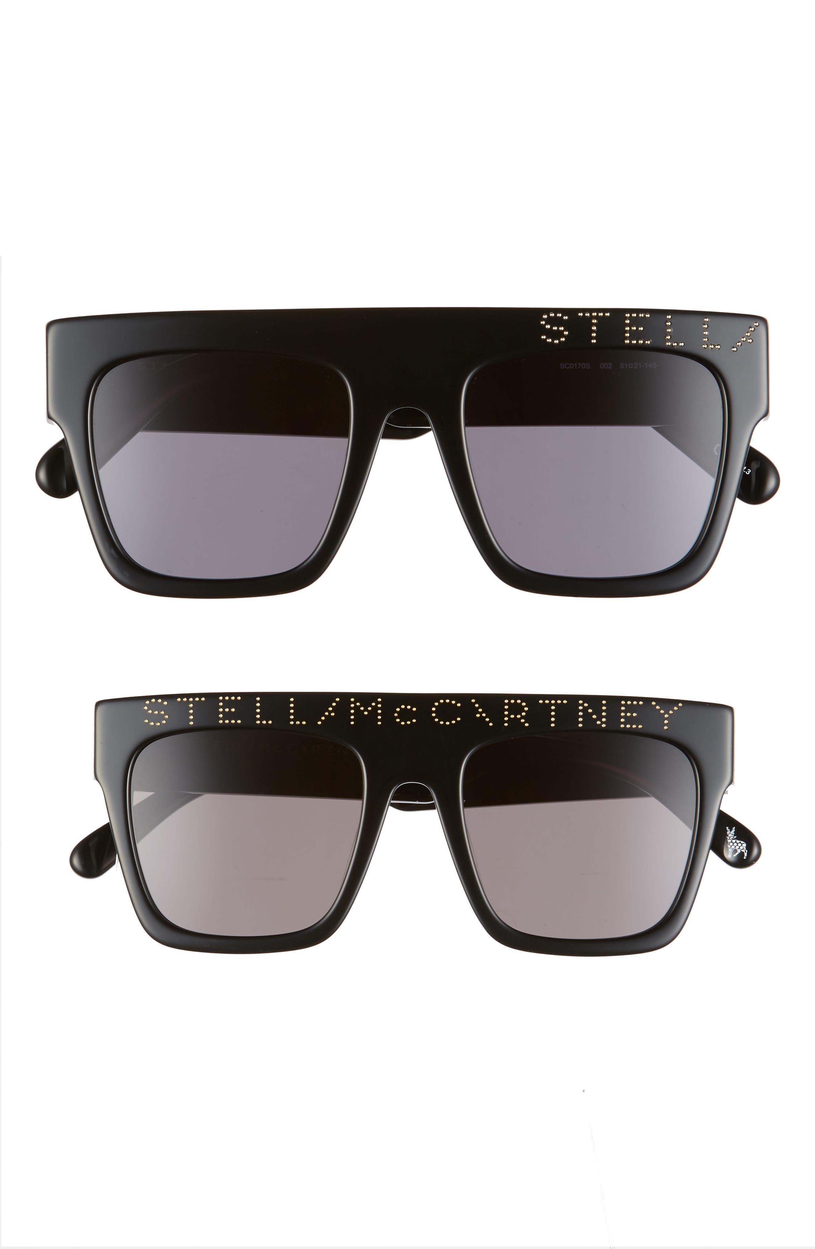 Stella Mccartney Mum & Me 51Mm Flat Top Sunglasses Set - Black