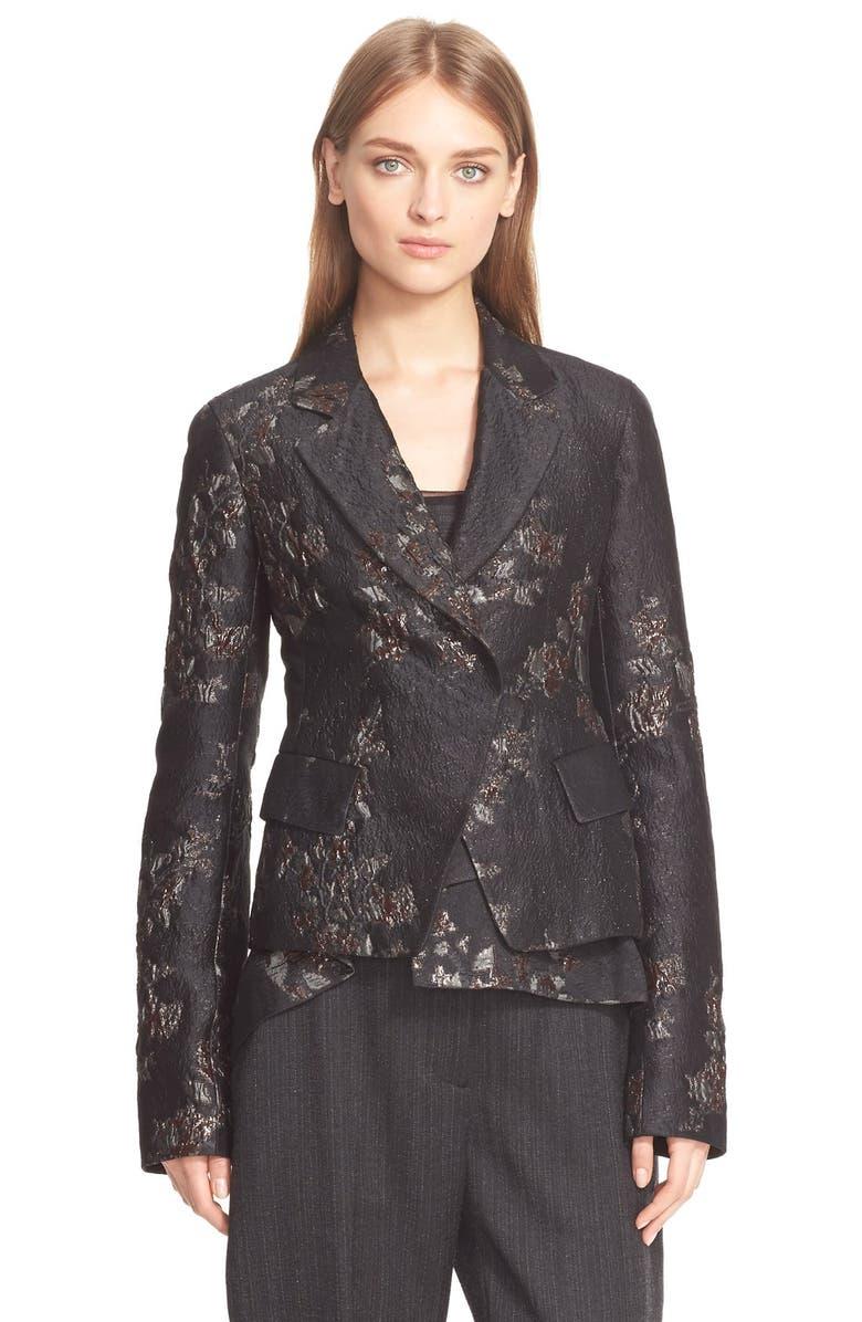DONNA KARAN NEW YORK Metallic Brocade Jacket, Main, color, 961