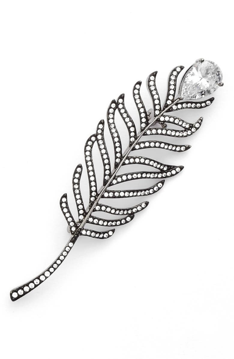 NADRI Feather Pin, Main, color, 001
