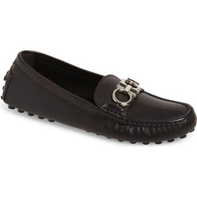 Salvatore Ferragamo Berra Bit Driving Loafer - Black